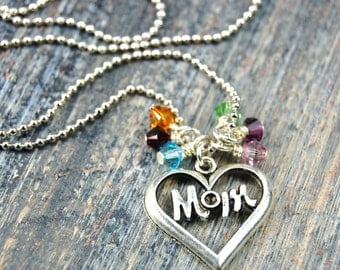 Mom, You Are Always In Our Hearts - Custom Made Birthstone Necklace