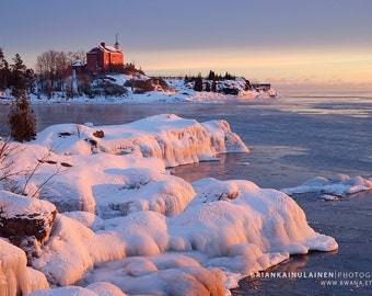 Marquette Winter Sunrise - Michigan Photography