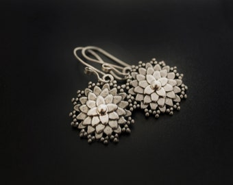Dahlia Earrings in Sterling Silver