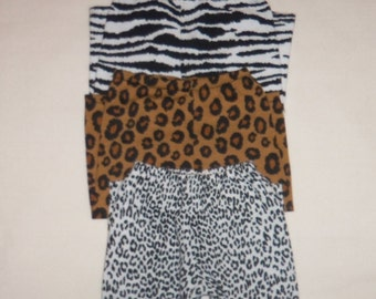 18 Inch Doll Cotton Leggings, Animal Print, Cotton Doll Pants, American Made, Girl Doll Clothes