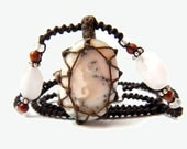 Tree Agate macrame Necklace - Your Stone For Abundance- Bohemian healing crystal