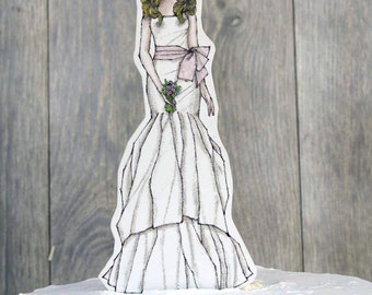Bohemian Bride Paper Doll Mix and Match - 19300