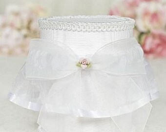 Porcelain Rose Bouquet Wedding Garter - 50725R