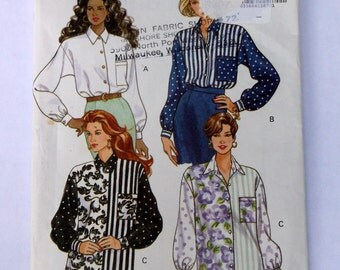 Butterick 5807 Misses Blouse Pattern Size 6-10 Fast Easy Pattern
