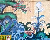 Chinatown Urban Art Photography, Philadelphia Mural Art, Chinese Dragon Print, Graffiti Art, Turquoise Wall Decor, Blue Urban Home Decor