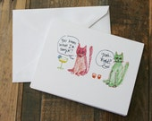 Cat Greeting Card Set - Small Talkin' Cats