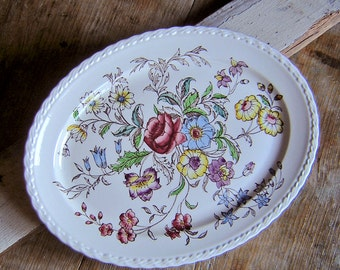 Vintage Vernon Kilns May Flower large serving platter