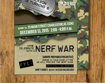 Nerf Gun War Birthday Party! Camo Centerpiece! Midwest Moma Blog