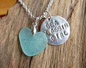 Sea Glass Necklace Sea Glass Jewelry, Sea Glassin Girl