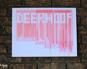 Special Edition Deerhoof and Xiu Xiu Gig Poster