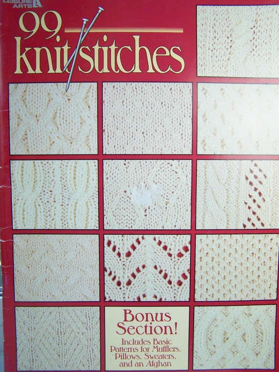Leisure Arts Knitting Pattern Books : Knitting Pattern Book Leisure Arts 90 Knit Stitches Basic
