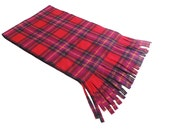 Pink Plaid Scarf, Pink Tartan Fleece Scarf, Free Shipping, Womens Scarf, Oversized Scarf, Extra Long and Wide Scarf, Fall Winter Scarf