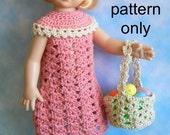 Crochet pattern (PDF) for 10-12 inch child doll Patsy Tonner Kish Effner - Easter dress, hat, and basket