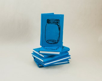 Mini Accordion Journal or Notebook with Jars