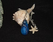 Schattierungen von blau Variscite Teardrop Anhänger Halskette mit Sterling Silber Kette Made in Neufundland