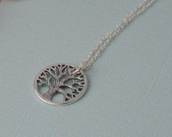 Family Tree Necklace //Mothers necklace // Tree of Life