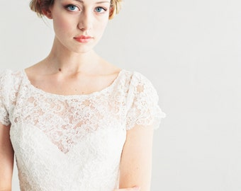 Alice - Lace and Silk Wedding Dress