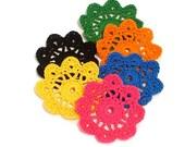 Mini Crochet Doilies in Neon Mix Embellishment Applique Doily Flower