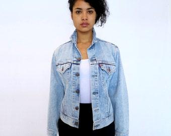 The Vintage Fringe Collar Levis Denim Jacket