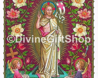 "Icon The Resurrection of Jesus Christ. 5"" X 7"" Print. Gorgeous."