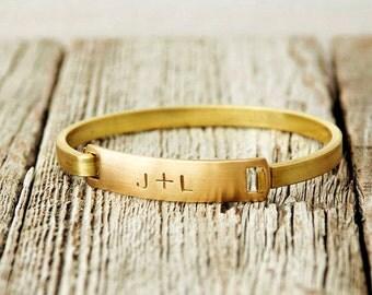 Hand Stamped Brass Bracelet, Brass Bracelet, Stamped Bracelet, Handstamped Brass, Handstamped Bracelet, Stamped Bracelet, Stamped Cuff