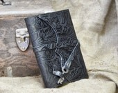 Black Leather Journal - Eco-Friendly Refillable, 100% Recycled Paper