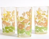Vintage Floral Drinking Glasses (Set of 3)