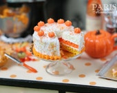 Autumn Layer Cake with Slice (Candy Corn Colors) - Miniature Food - LAST ONE