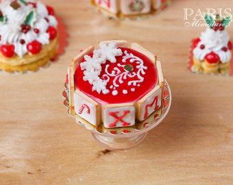 MTO - Christmas Cake - XMAS - B - 12th Scale Miniature Food