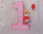 1st Birthday Girl Clothespin Doll & Number Set