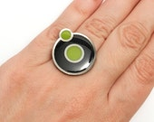 Hydrogen Ring (Limited Edition 3D printed ring with enamel)