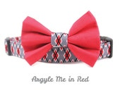 Argyle Boy Dog Collar - Argyle Me in Red