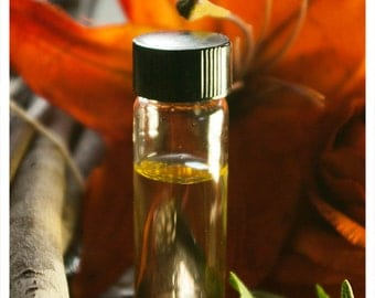 na dobranich - natural perfume oil woven of spicy pumpkin pie and clove - in 1/2 oz amber apothecary bottle