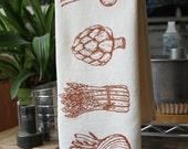 Veggies Flour Sack Towel - Hand Screen Printed