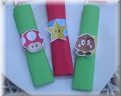 Print-INK Super Mario Bros. A La Carte Napkin Rings and Placemat / Coloring Page - DIY Digital Printable PDF