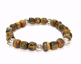 Tiger Eye  Bracelet ,  Gemstone Stacking Bracelet