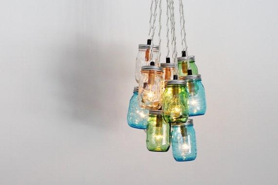 Sea Glass Light Fixture Sea Glass Chandelier Lighting