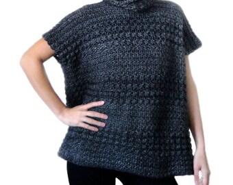 Subtle Stripes Poncho - PDF Crochet Pattern - Instant Download