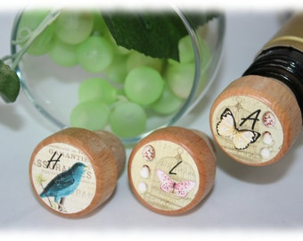 Chic Wine Stopper, Wildlife Wine Stopper, Butterfly Wine Stopper, Personalized Stopper- Bulk Pricing
