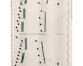 iPhone Case Vintage Sheet Music Black White Red Music Lover Musician