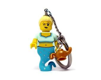 Genie Keychain - made from Series 12 LEGO® Minifigure, Genie Girl