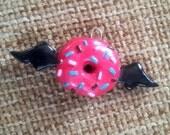 Flying doughnut pendant - made to order