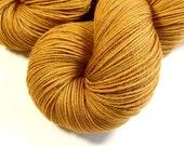 Hand Dyed Yarn - Sock Weight 4 Ply Superwash Merino Wool Yarn - Topaz - Knitting Yarn, Sock Yarn, Wool Yarn, Tonal Yarn, Gold