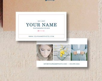 Business Cards - Business Card Design Template for Photoshop - Photographer Business Cards - Digital Photoshop Design Templates