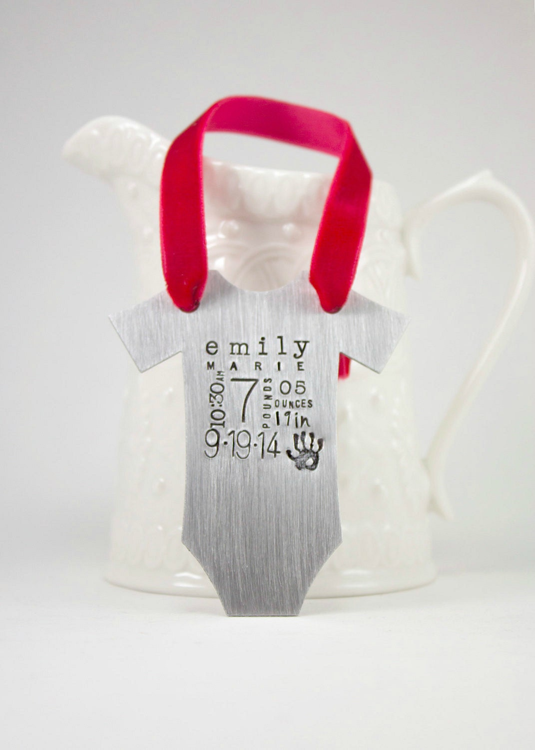 Personalized Baby S First Christmas Ornament Baby Vest