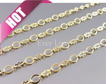 Hot seller! 1 meter oval and cloud designer chains, chains wholesale, jewelry supplies, jewelry chain B030-BG