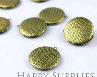 5pcs 33mm High Quality Antique Bronze Locket Pendants /Charms (ZL36)
