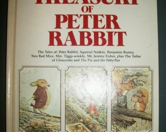 Vintage Hardcover Giant Treasury of Peter Rabbit