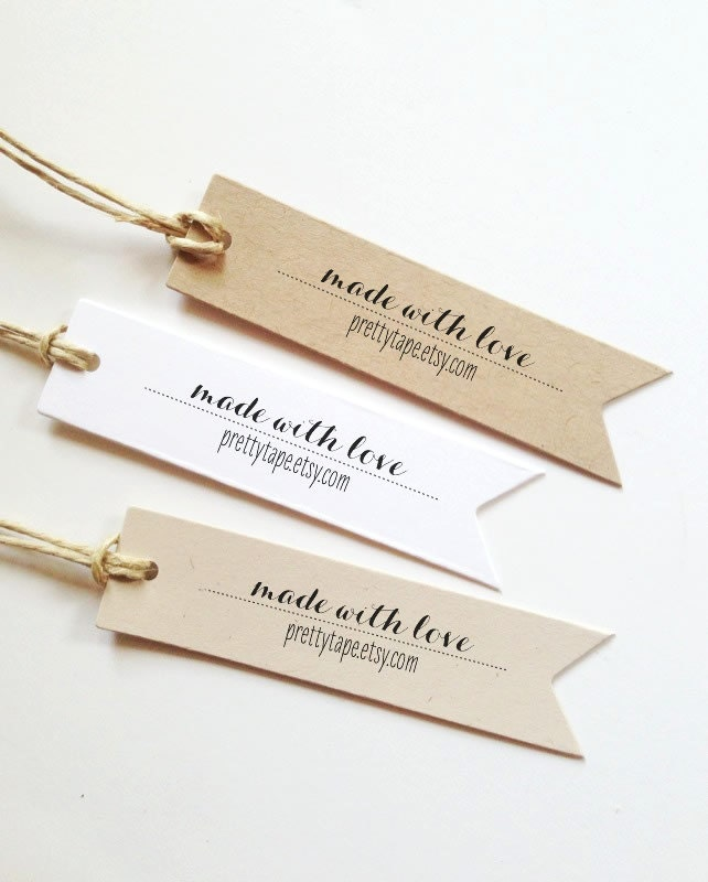 Custom Gift Tags Made With Love Tag Label Wedding Favor Tags