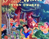1954 Walt DISNEY'S SNOW WHITE and the Seven Dwarfs Book